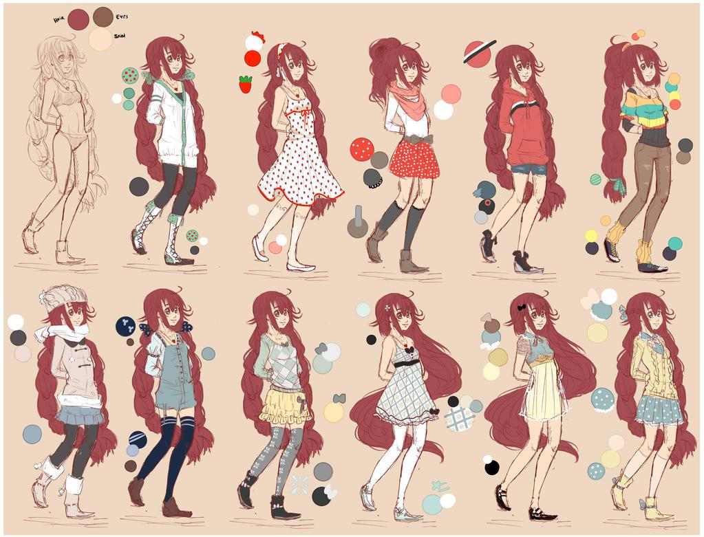 Ami Clothing Sketches by MizumiHisui