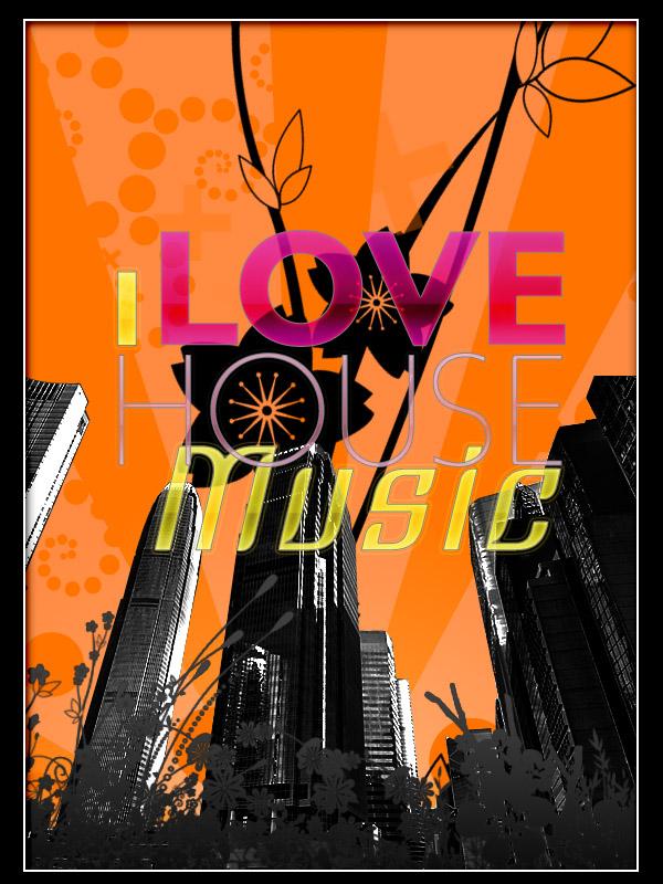 I love house music by d0n3 on deviantart for House music art