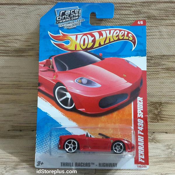 Hot Wheels 2011 Ferrari F430 Spider Thrill Racers By Idstoreplus On