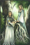 Galadriel and Celebrian by ebe-kastein