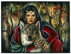 Siris with her wolf Sharayn