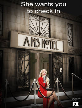 She wants you to check in AHS Hotel