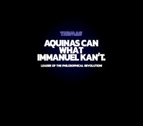 Aquinas Can What Immanuel Kant T-shirt