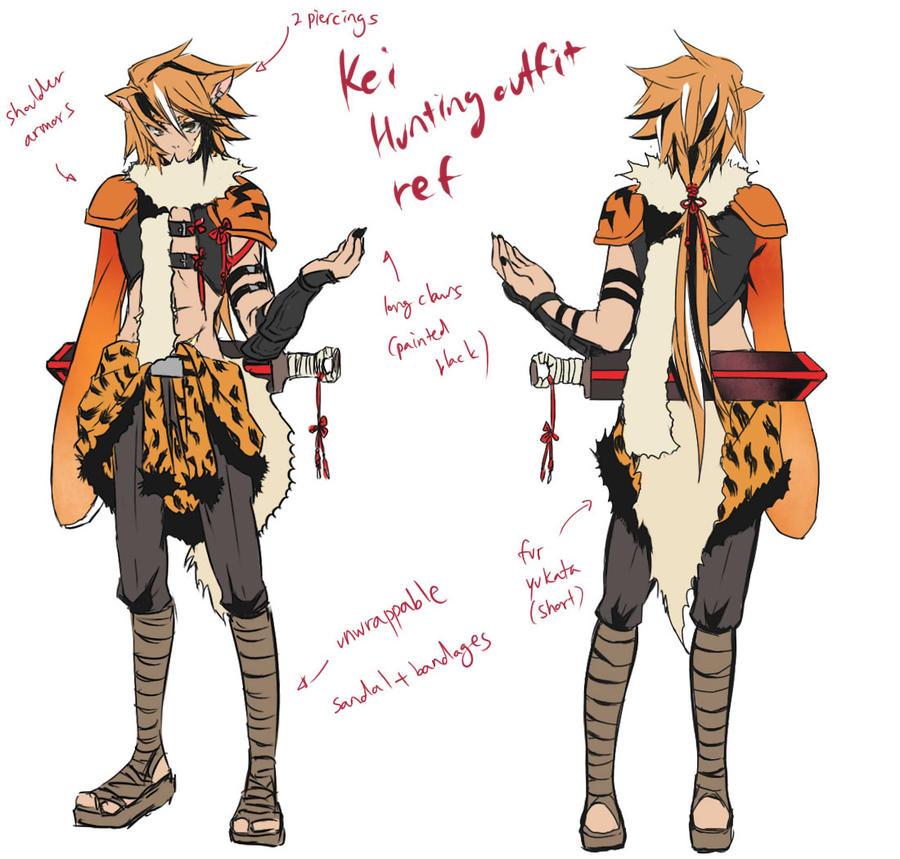 PKMO- Kei Hunting outfit ref. by lutherum on DeviantArt