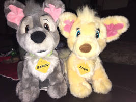 Disney Best of Show Angel  Scamp Plushies by Disney1123
