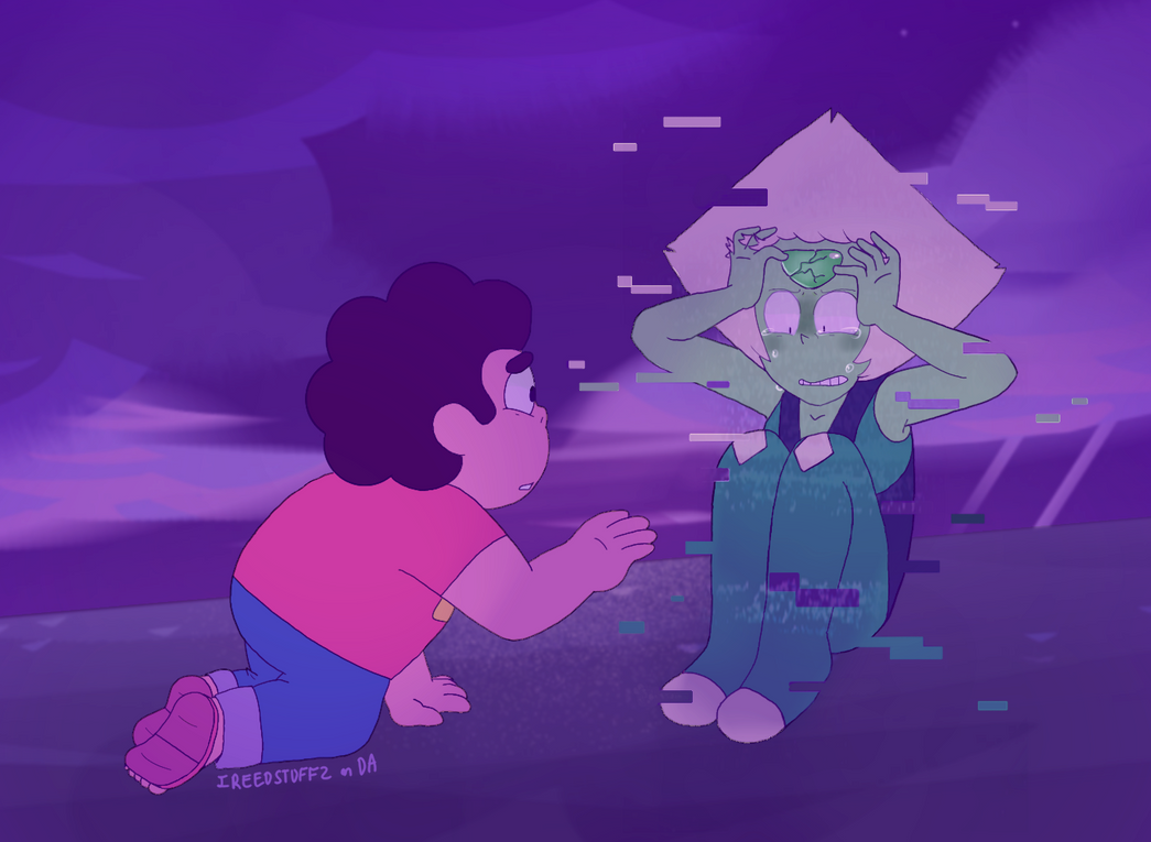 "So I was gonna do some quick vent art and go to bed but then I thought ""Wow how cool would it be if Peridot has a glitch-out effect when her gem cracks??"" And then I thought ""holy crap that's way t..."