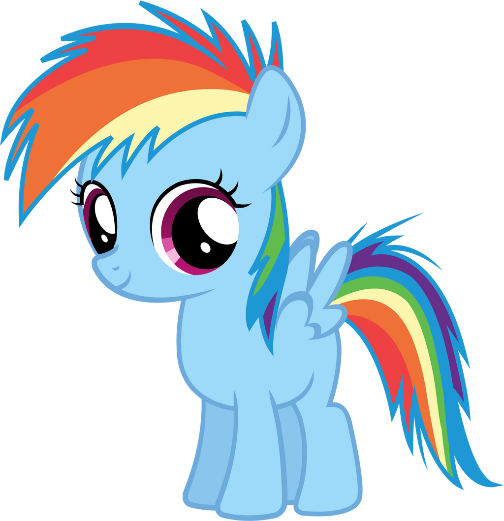 Filly Rainbow Dash Vector by Nsmah on DeviantArt  Filly Rainbow Dash And Derpy