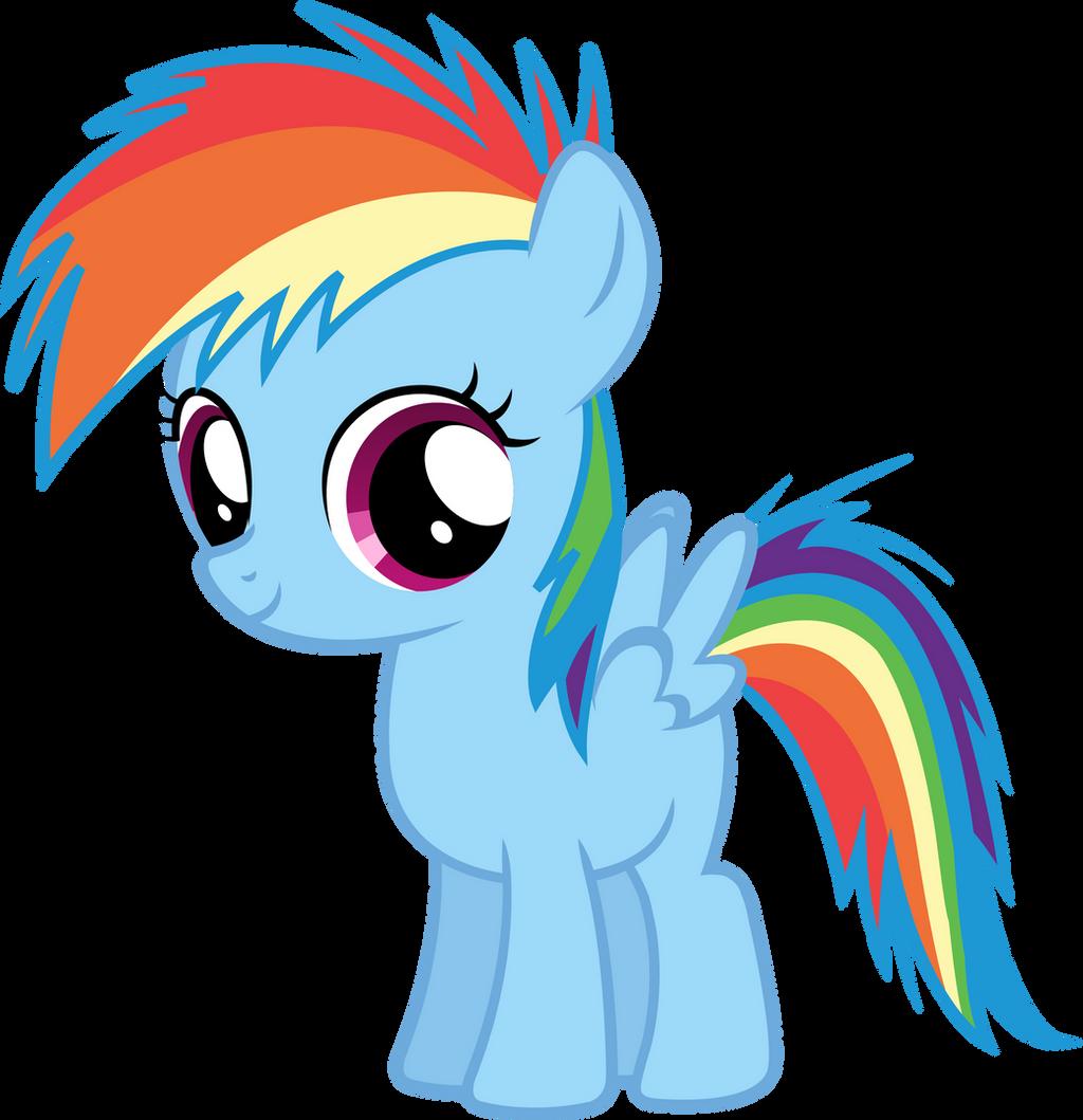 Filly Rainbow Dash Vector by Nsmah on DeviantArt