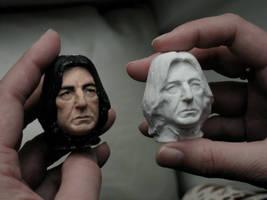 Severus Snape double portrait heads 2012