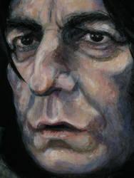 Severus Snape painted portrait 2012 (closeup)