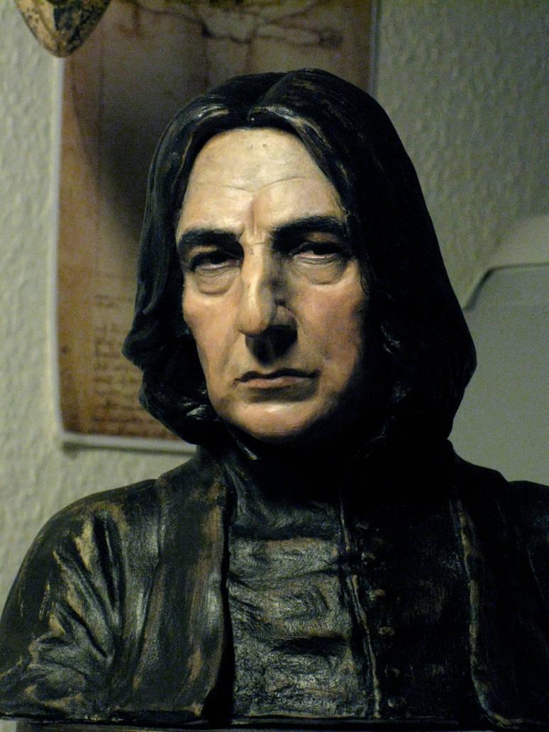 Painted Severus Snape bust 2012