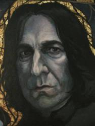 Severus Snape painted portrait 2. 2012
