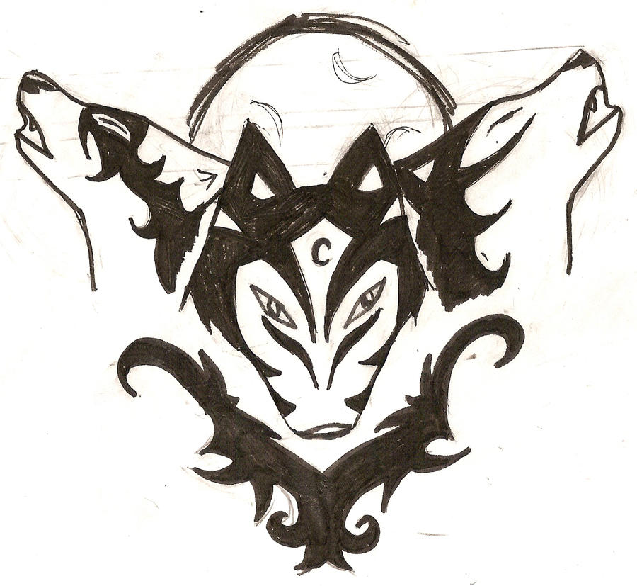tribal wolf tattoo by cupcakes62194 on deviantart. Black Bedroom Furniture Sets. Home Design Ideas