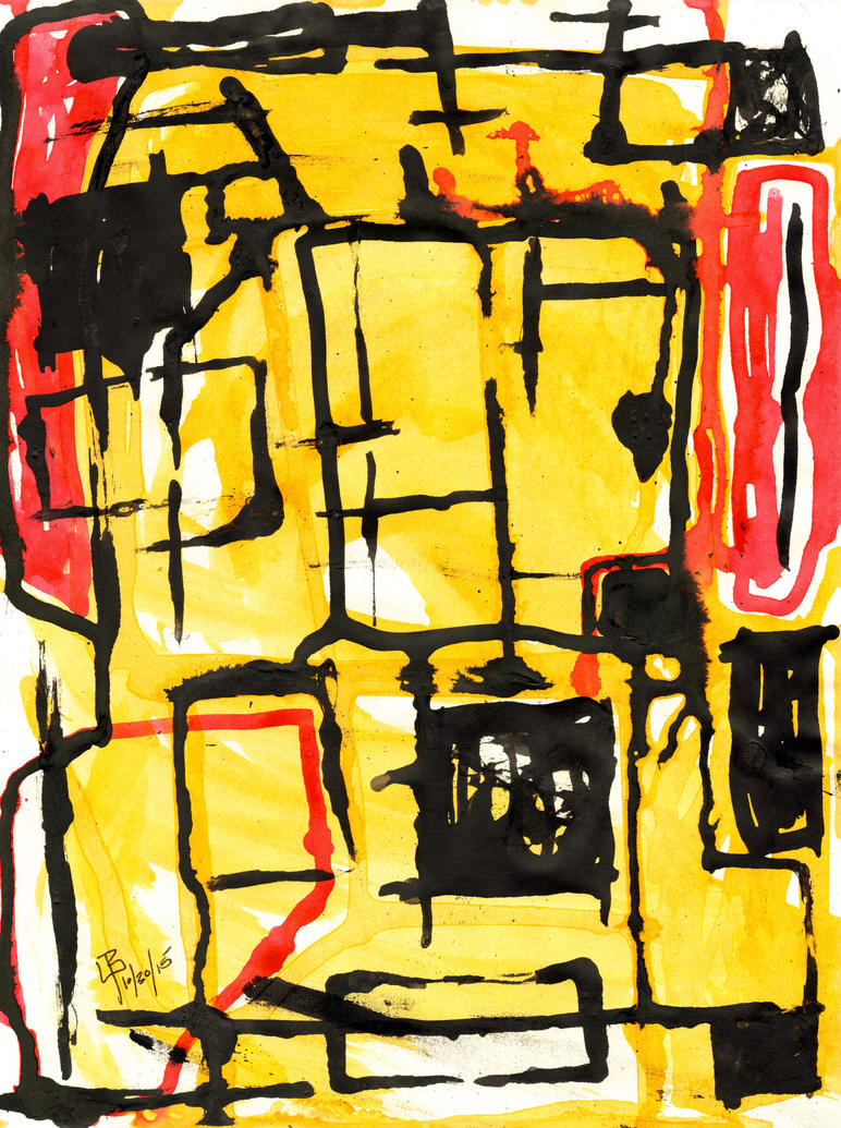 Compositional Studies in Black, Red, Yellow, No.8 by GianniMiquini