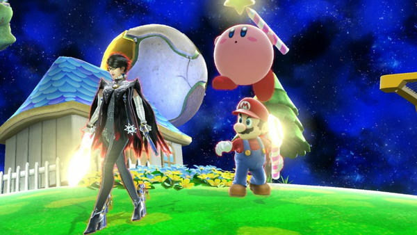 Mario Bayonetta and Kirby by user15432