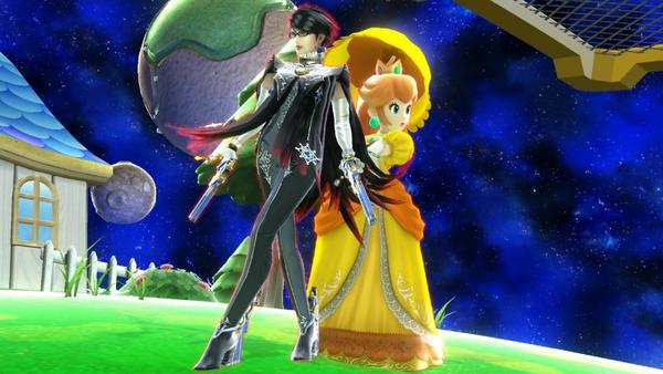 Bayonetta and Princess Daisy by user15432