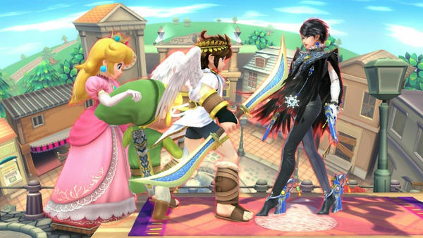 Princess Peach Toon Link Pit and Bayonetta by user15432