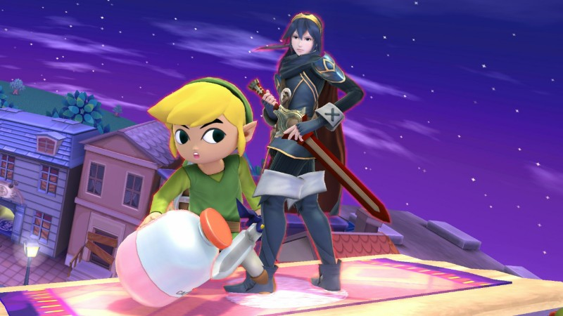 Lucina and Toon Link by user15432