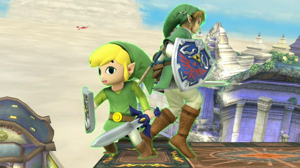 Link and Toon Link by user15432