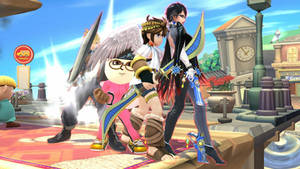 Me Bayonetta Pit and Cloud Strife