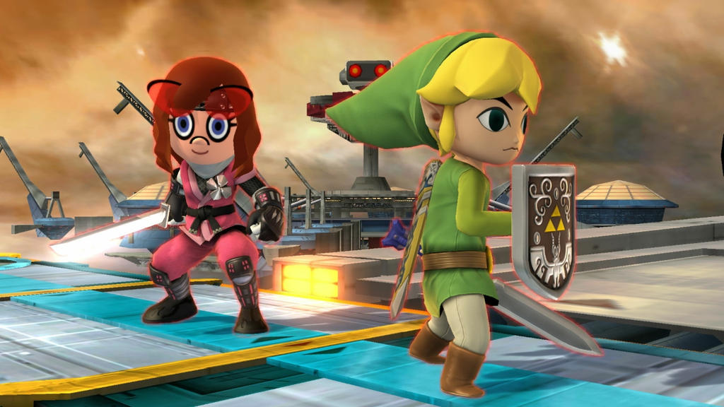 Toon Link and Pinkie Pie by user15432