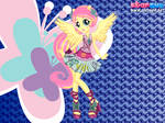 Rocking Girl Fluttershy by user15432