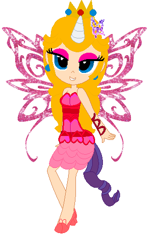 Princess Peach flying with pony-up and butterflix by user15432