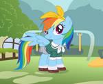 School Girl Rainbow Dash by user15432