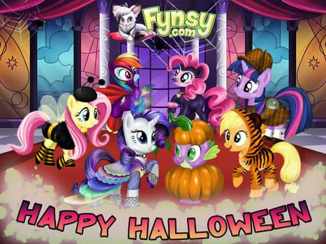 Halloween Mane Six and Spike