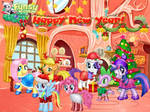 Christmas Mane 6 by user15432