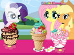 Ponies with their Ice Cream by user15432
