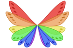 Rainbow Coronation Wings by user15432