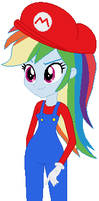 Rainbow Dash Mario cosplay