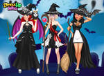 Black and White Halloween Princesses by user15432