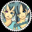 Happy Birthday Eva and Vince by clio-mokona