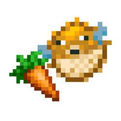 Pufferfish eating carrot(MC style)(Zero effort)