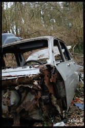 Destroyed Car by Crowlf