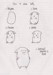 how to draw fluffi by LeTois