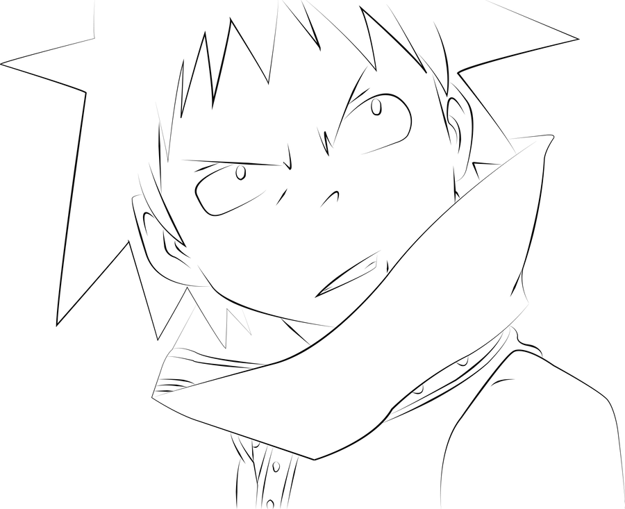 soul eater coloring pages - black star soul eater lineart by kendarakuma on deviantart