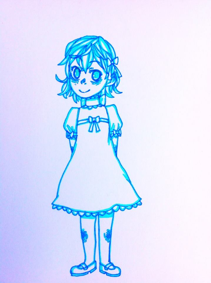 little ghost girl by chibi1art