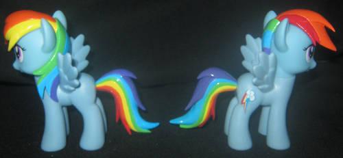 MLP Custom - Rainbow Dash Side View by LilMisteek