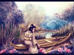 Geisha on the lake by YaNkaaaaa