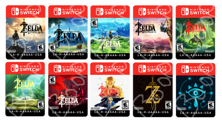 Breath of the Wild Game Card Sticker Redesigns