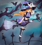 (OPEN) Adoptable OC 15 - Beast Magic Witch by Lunafleurr