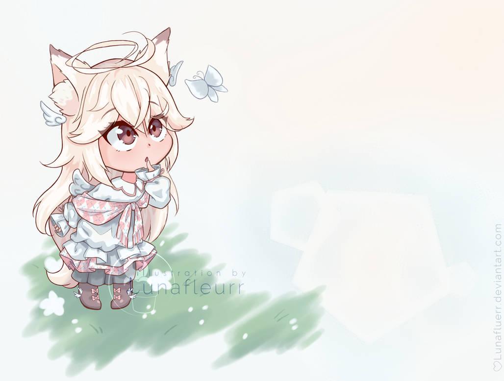 [SOLD] Adoptable OC 28 - Angelic Kitsunemimi