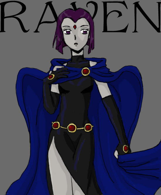 how to draw raven from tt