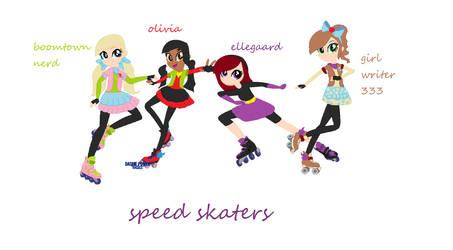 Speed skaters by Ninjagofan56