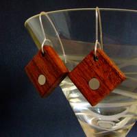 Earrings jatoba and aluminium.