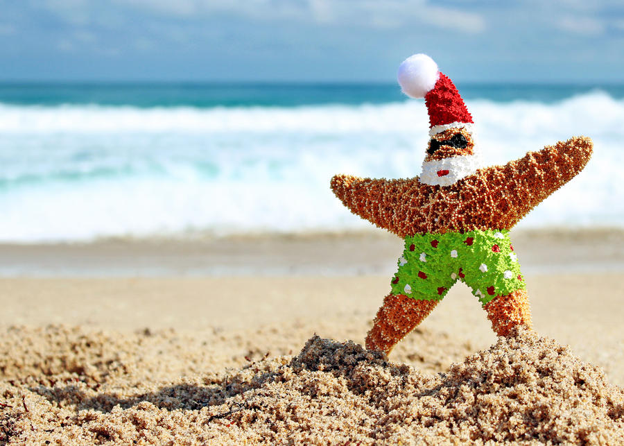 Christmas at the Beach by flowerhippie22