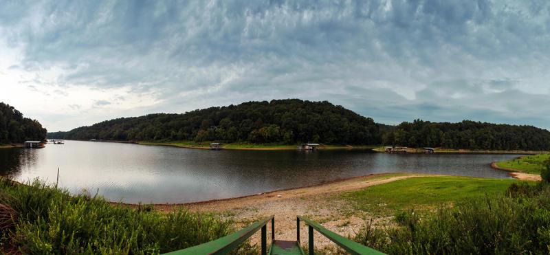 Beaver Lake Pano by flowerhippie22